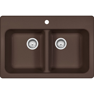 Quantum | FPM3322-1 | Fragranite Dark Brown  | Sinks