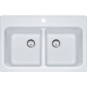 Quantum | FPW3322-1 | Fragranite Pure White | Sinks