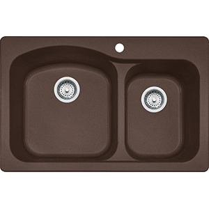 Gravity | DIG62F91-MOC | Fragranite Dark Brown  | Sinks