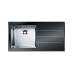 Crystal | CYV 611 | Glass Black | Sinks