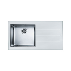 Crystal | CYV 611 | Glass White | Sinks