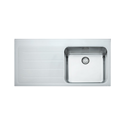 Epos | EOV 611 | Glass White | Sinks