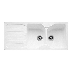 Calypso | COG 621 | Fragranite Polar White | Sinks