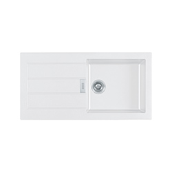 Sirius | SID 611-100 | Tectonite Polar White | Sinks
