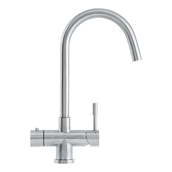 3-in-1 Tap | Minerva Helix | Stainless Steel | Instant boiling water taps