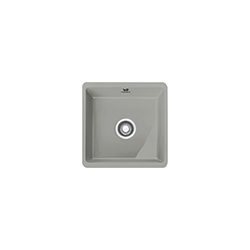 Kubus | KBK 110 40 | Ceramic Pearl Grey Matt | Sinks