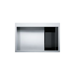 Crystal Line | CLV 210 | Stainless Steel-Glass Black | Sinks