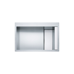 Crystal Line | CLV 210 | Stainless Steel-Glass White | Sinks