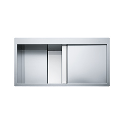 Crystal Line | CLV 214 | Stainless Steel-Glass White | Lavelli