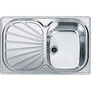 Erica | EUX 611-78 | Stainless Steel | Sinks