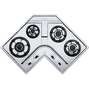 Design Plus | DPA 3GAV-TC | Stainless Steel | Cooking Hobs