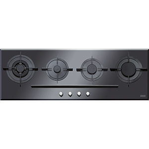 Crystal | FHCR 1204 3G TC BK C | Glass Black | Cooking Hobs