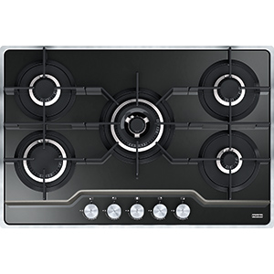 Frames by Franke | FHFS 785 4G TC BK C | Stainless Steel-Glass Black | Cooking Hobs