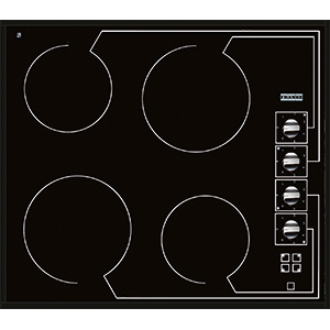 Vetroceramica | FHC 604 4CR M | Glass Black | Cooking Hobs