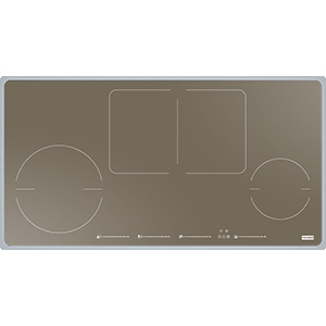 Frames by Franke | FHFS 864 2I 1FLEX ST CH | Stainless Steel-Glass Champagne | Plaque de cuisson