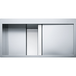 Crystal Line | CLV 214 | Stainless Steel-Glass White | Sinks