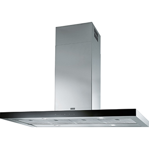 Crystal Touch | FCR 1225 I TC BK XS | Stainless Steel-Glass Black | Hoods