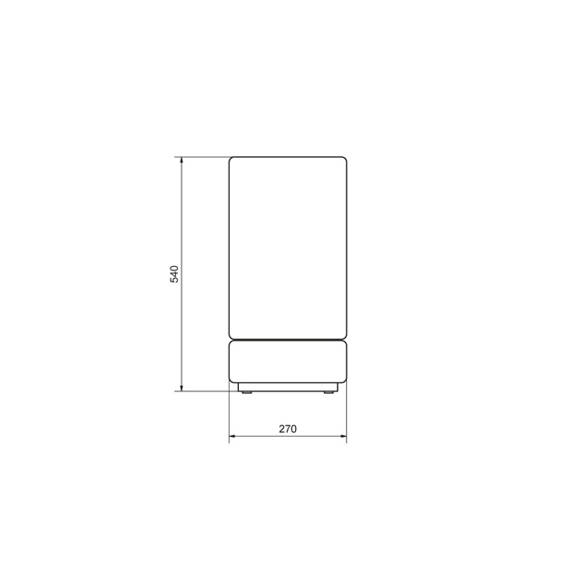 Under table refrigerator UT05 EC
