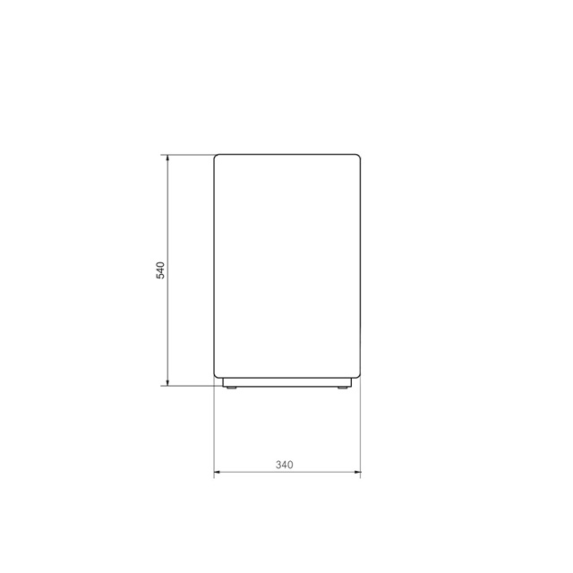 Under table refrigerator UT12 EC