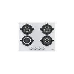 Crystal | FHCR 604 4G HE WH C | Glass White | Cooking Hobs