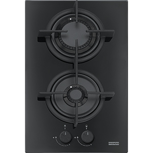 Crystal | FHCR 302 2G HE BK C | Glass Black | Built in Hobs