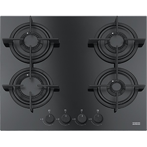 Crystal | FHCR 604 4G HE BK C | Glass Black | Cooking Hobs