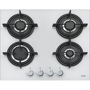 New Crystal | FHCR 604 4G HE WH C | Glass White | Cooking Hobs