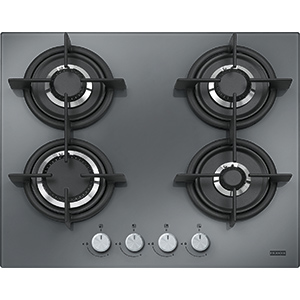 Crystal | FHCR 604 4G HE XS C | Mirror Glass Black | Cooking Hobs