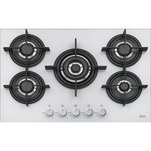 Crystal | FHCR 755 4G TC HE WH C | Glass White | Cooking Hobs