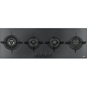 Crystal | FHCR 1204 3G TC HE BK C | Glass Black | Hobs