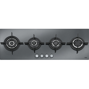 New Crystal | FHCR 1204 3G TC HE XS C | Mirror Glass Black | Built in Hobs