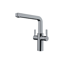 Frames by Franke | 2 LEVER SWIVEL SPOUT FS 2H SW DS | Decor Steel | Taps