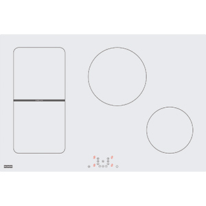 Maris | FHMR 804 2I 1Flexi WH | Glass White | Cooking Hobs
