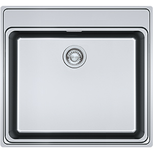 Frames by Franke | 1 BOWL SINK WITHOUT DRAINER WITH TAP LEDGE FSX 210 TPL | Stainless Steel | Sinks