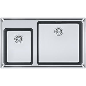 Frames by Franke | 1.5 BOWL SINK WITHOUT DRAINER WITH TAP LEDGE FSX 220-86 TPL | Stainless Steel | Sinks