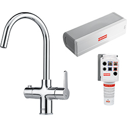 3-in-1 Tap | Minerva Original | Chrome | Instant boiling water taps