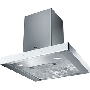 Crystal Touch | FCR 625 TC WH XS | Stainless Steel-Glass White | Campanas