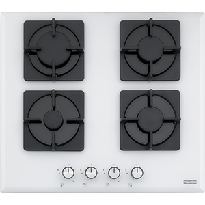 New Square | FHNS 604 4G WH C | Glass White | Hobs