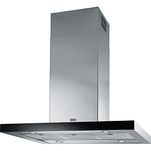 Crystal Touch | FCR 925 I TC BK XS LED | Stainless Steel-Glass Black | Hoods