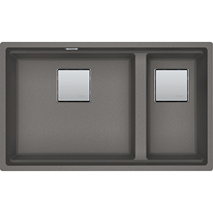Kubus 2 | KNG 120 | Fragranite Stone Grey | Sinks