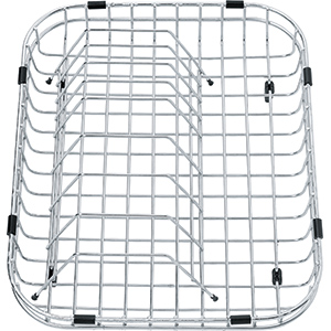 Wire drain basket with plate rack