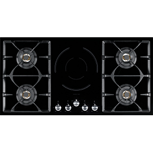 Gas and Induction Cooktop | FIXG905B1N | Black Ceramic Glass | Cooktops