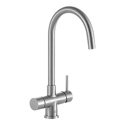 Minerva Electronic 4-in-1 Tap | Minerva Helix | Stainless Steel | Instant boiling water taps