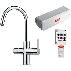 4-in-1 Tap | Minerva Electronic | Chrome | Instant boiling water taps