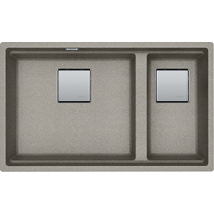 Kubus | KNG 120 | Fragranite Sterling Silver | Sinks