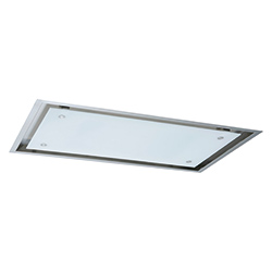 HIGH CONFIDENCE | HIGH CONFIDENCE 1200 VERRE BLANC | Inox / verre blanc | Hottes