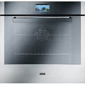 Crystal | CR 913 M XS DCT TFT | Stainless Steel-Mirror Glass Black | Ovens