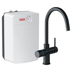 Perfect4 | Minerva COMBI XL | Black | Kokend & gefilterd waterkranen