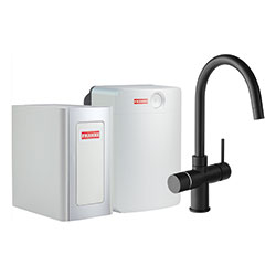Perfect4 Chilled | Minerva COMBI XL | Zwart | Multi-water kranen