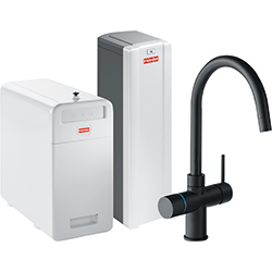 Perfect5 Chilled-Pro | Minerva COMBI S | Zwart | Multi-water kranen